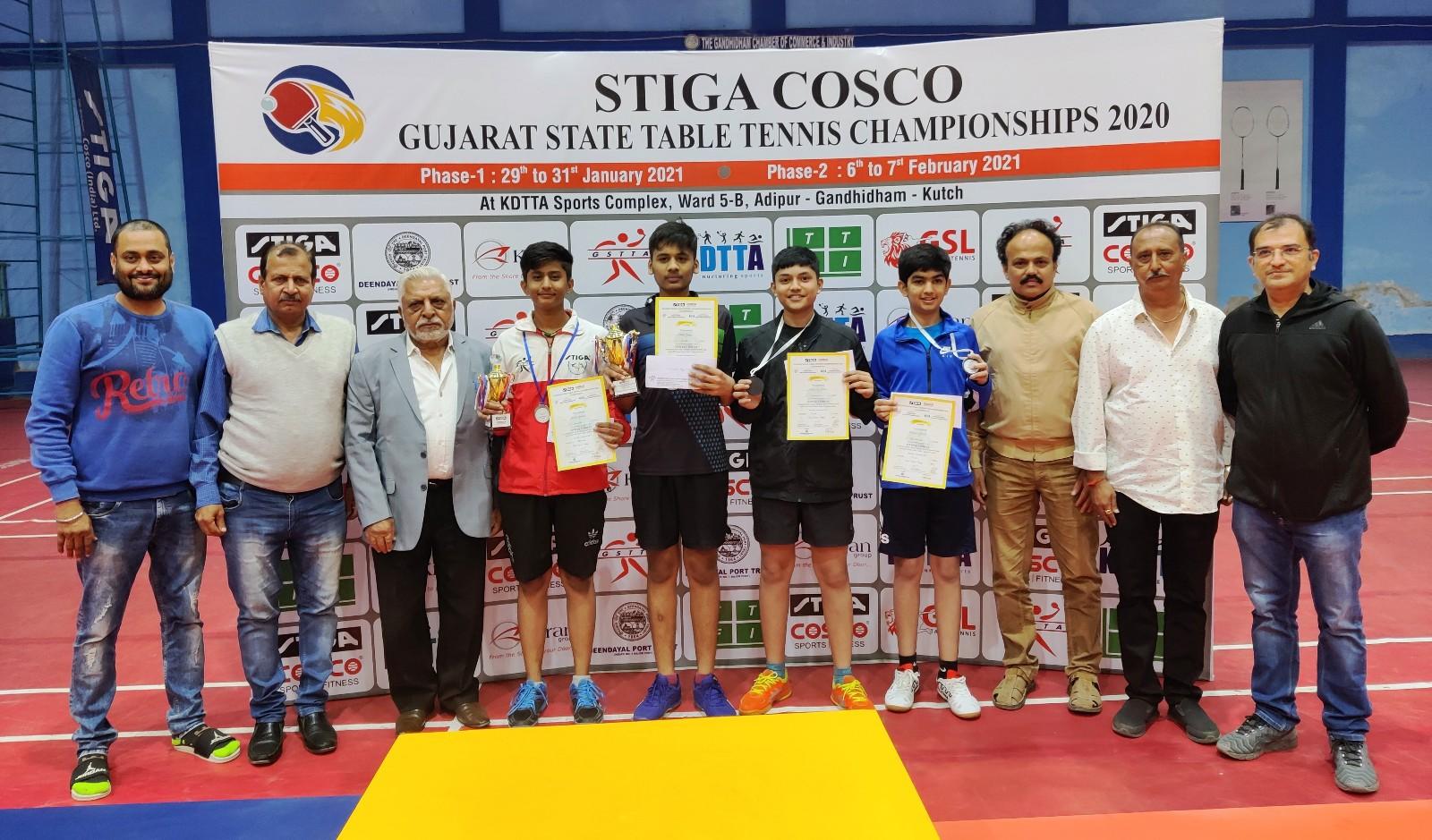Khushi, Shlok triumph in State TT Championships 2020