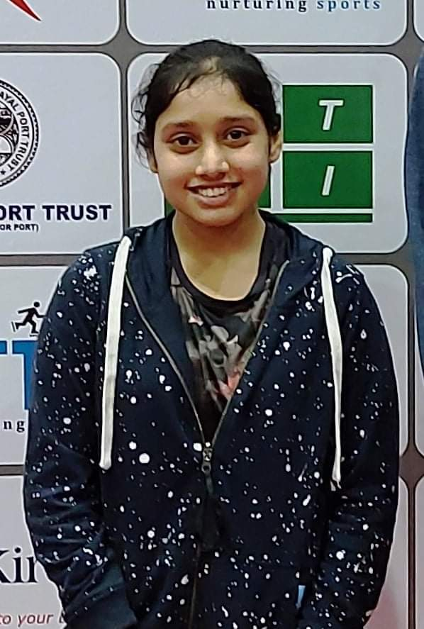 Afrin Murad of Surat wins girls title in Gujarat State Table Tennis Championship held at Gandhidham, Kutch